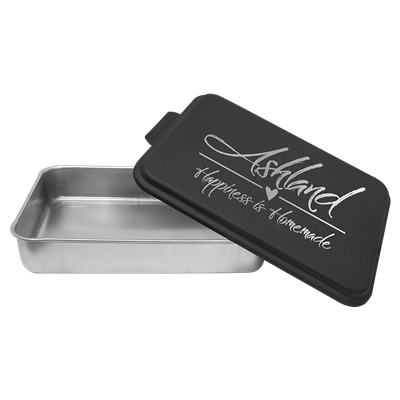 Aluminum Cake Pan with Black Lid