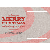 Holiday Card Merry Christmas2 5x7
