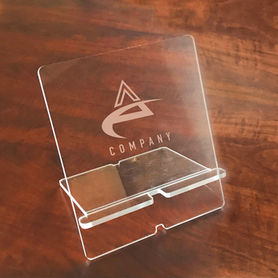 Acrylic Tablet Stand: Logo or Text